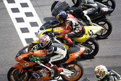 Superbike Race. Image of superbike racers at the Malaysian Super Series (Superbike Race), held at the Sepang International Racing Circuit on April 13, 2008 royalty free stock photography