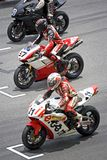 Superbike Race. Image of superbike racers at the starting grid of the Malaysian Super Series (Superbike Race 2), held at the Sepang International Racing Circuit stock images