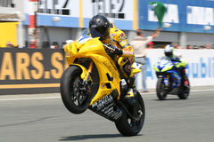 Superbike racer Royalty Free Stock Photo