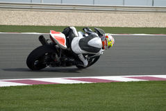 Superbike racing on track Stock Photo