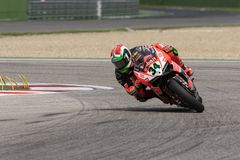 Superbike rider Davide Giugliano royalty free stock photography
