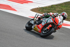Superbike Team Aprilia Alitalia Racing Max Biaggi Fotografie Stock