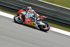 Superbike Team Aprilia Alitalia Racing Max Biaggi Stock Afbeelding