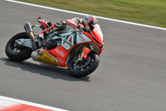 Superbike Team Aprilia Alitalia Racing Max Biaggi Stock Image