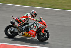 Superbike Team Aprilia Alitalia Racing Max Biaggi Royalty Free Stock Image