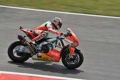 Superbike Team Aprilia Alitalia Racing Max Biaggi Royalty Free Stock Image