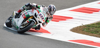 Superbike Team Castrol Honda Ruben Xaus Royaltyfri Bild
