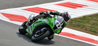 Superbike Team Kawasaki Racing Joan Lascorz Arkivfoto