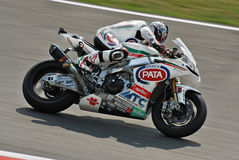 Superbike Team Pata Racing Aprilia Noriyuki Haga Image stock