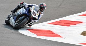 Superbike Team Yamaha World Superbike Marco Melandri Royaltyfria Bilder