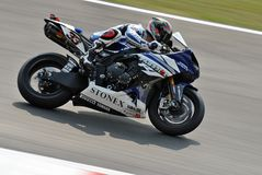 Superbike Team Yamaha World Superbike Marco Melandri Royaltyfri Bild