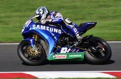 Superbikes britânicos foto de stock royalty free