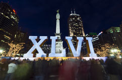 Superbowl 46 Indianapolis fotos de archivo