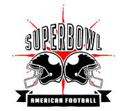 Superbowl And Football Badge Hand Draw. Vector illustration of Superbowl and  American football badge in manual drawing style Royalty Free Stock Images