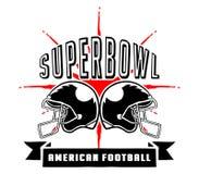 Superbowl I Futbolowy odznaki ręki remis Obrazy Royalty Free