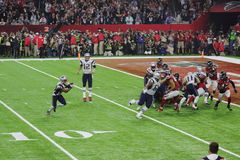 SuperBowl LI Patriots Play stock images