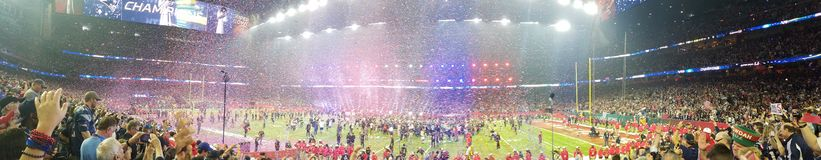 SuperBowl LI Patriots Winning Celebration royalty free stock image