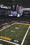 Superbowl XLV bij het Stadion van Cowboys in Dallas, Texas Stock Foto's