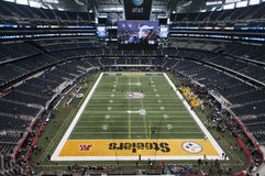 Superbowl XLV at Cowboys Stadium in Dallas, Texas stock image