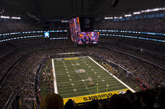 Superbowl XLV en el estadio de los vaqueros en Dallas, Tejas