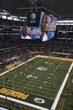 牛仔达拉斯体育场superbowl得克萨斯xlv 库存照片