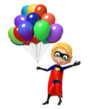 Superboy with Balloons Stock Photo