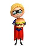 Superboy with Burger Stock Photos