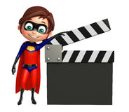 Superboy with Clapper board Royalty Free Stock Photo