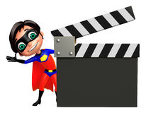 Superboy with Clapper board Stock Photos