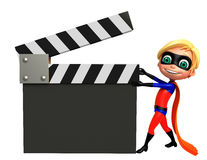 Superboy with Clapper board Stock Photo