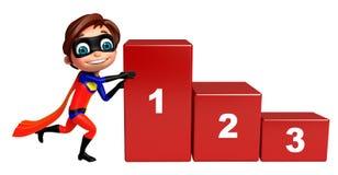Superboy com nível 123 Fotografia de Stock Royalty Free