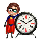 Superboy with Royalty Free Stock Photography