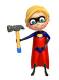 Superboy with Hammer Stock Photo