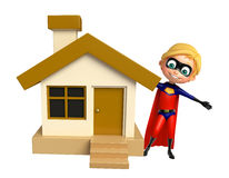 Superboy with  Home Stock Photo