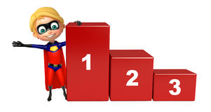 Superboy with  123 Level. 3d rendered illustration of Superboy with 123 Level Royalty Free Stock Photography