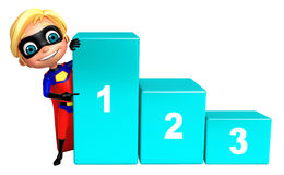 Superboy with 123 level Stock Photography