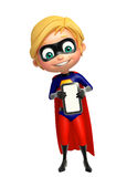 Superboy with  Mobile Royalty Free Stock Photography