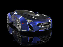 Supercar - blue pearlescent paint Royalty Free Stock Images