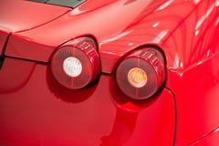 Supercar czerwone światło Obraz Stock