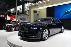Supercar de convertible d'aube de Rolls Royce Images libres de droits