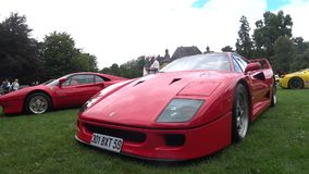 Supercar di Ferrari F40 stock footage
