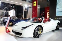 Supercar Ferrari 458 Arkivfoton