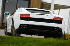 Supercar in golf club royalty free stock images