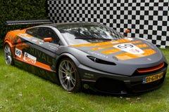 Supercar GTR selvaggio grigio di Rivale Fotografia Stock