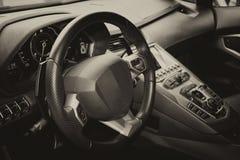 Supercar interior Royalty Free Stock Photo