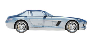 Supercar isolated on a light background Stock Photography