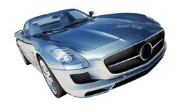 Supercar isolated on a light background Royalty Free Stock Photography