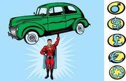 Supercar Kerl Stockbild