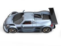 Supercar métallique léger de peinture de flocon de gris d'ardoise - complétez en bas de la vue de côté illustration libre de droits