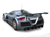Supercar métallique léger de peinture de flocon de gris d'ardoise - vue arrière illustration stock
